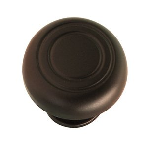 "Hafele Hardware - Dark Oil Rubbed Bronze - 1 3/8"" Diameter Knob in Dark Oil Rubbed Bronze"