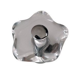 Hafele Cabinet Hardware - Knob in Clear / Polished Chrome