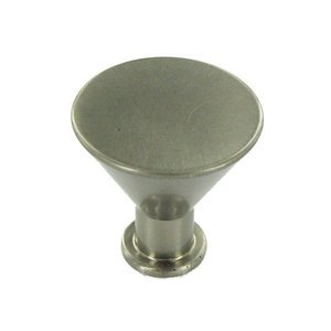 "Hafele Cabinet Hardware - 1 1/4"" Diameter Knob in Nickel Matte"