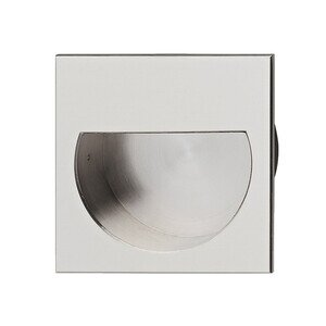 "Hafele Cabinet Hardware - Solid Brass Mortise 2 1/4"" Recessed Pull in Nickel Matte"