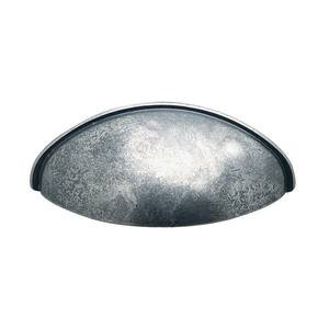 "Hafele Hardware - Pewter - 2 1/2"" Centers Cup Pull in Pewter"