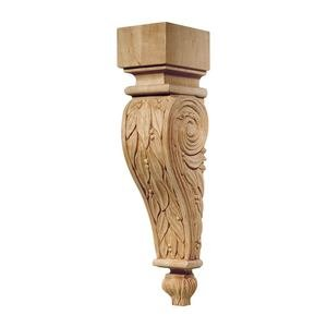 "Hafele Hardware - Chateau - 13"" Tall Hand Carved Wooden Corbel in Cherry"
