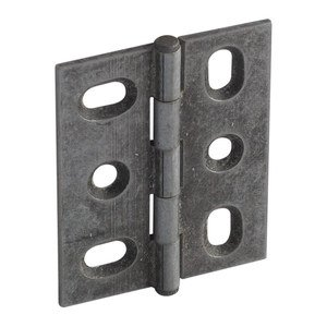 Hafele Hardware - Mortised Butt Hinges - Mortised Decorative Butt Hinge with Button Finial in Pewter