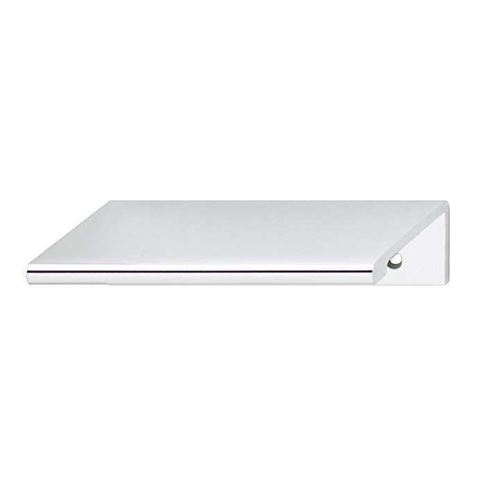 hafele cabinet and door hardware edge pull polished chrome hafele hardware. Black Bedroom Furniture Sets. Home Design Ideas