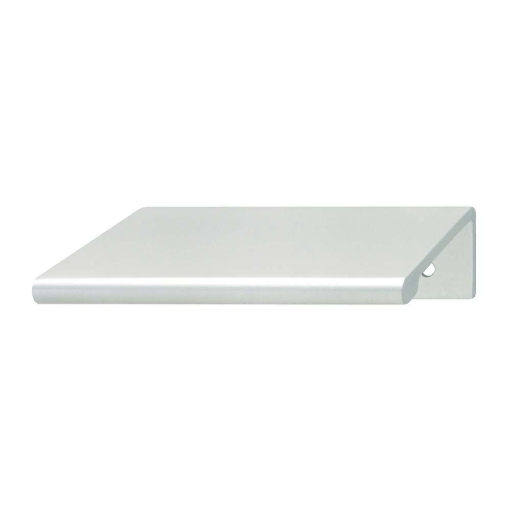 hafele cabinet and door hardware edge pull matte silver anodized hafele. Black Bedroom Furniture Sets. Home Design Ideas