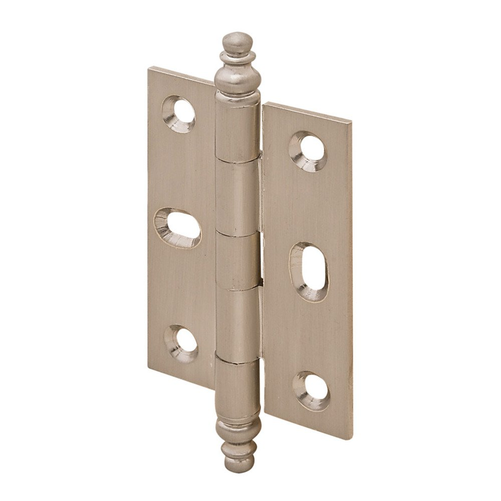 hafele cabinet hardware mortised decorative butt hinge with minaret finial in brushed nickel