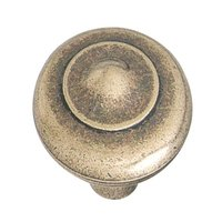 "Hafele Hardware - Chippendale - 1"" Diameter Knob in Antique Bronze"