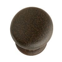 "Hafele Hardware - Bordeaux - 1"" Diameter Knob in Rust"