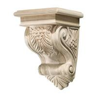 "Hafele Hardware - Bordeaux - 9"" Tall Hand Carved Wooden Corbel in Maple"